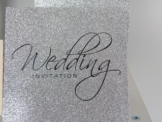 Absolutely Stunning New Glitter invitations