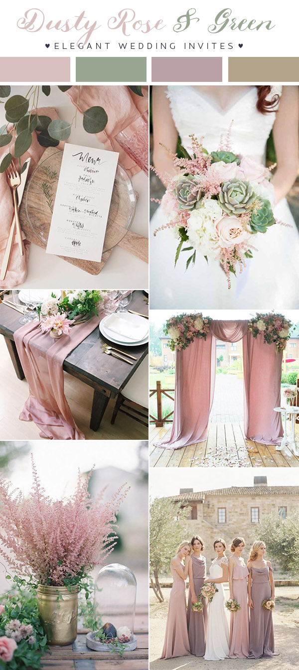dusty-rose-pink-and-green-romantic-wedding-color-inspiration