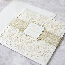 Ivory Laser Cut Wedding Stationery