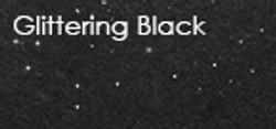 glittering black