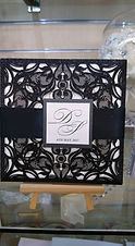 Black Glitter Laser Cut Invitations