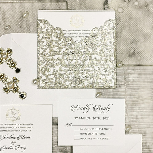 Carolyn Silver Glitter Wallet