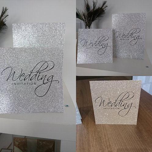 Vivien Glitter Invitation