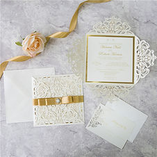 Ivory Laser Cut Wedding Invitations