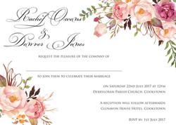 Mary invitation insert