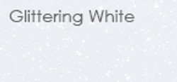 glittering white
