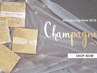 New Champagne Gold Laser Cut Invitations
