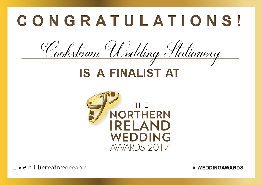 The Northern Ireland Wedding Awards Finalist Poster