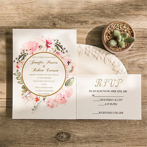 Flat Postcard Style Invitations
