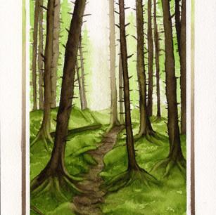 Watercolor, Pen & Ink