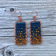 Midnight Embers Earring