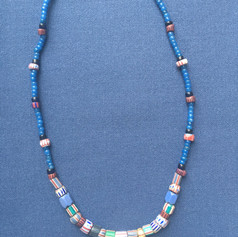 Indigo Stripe Necklace