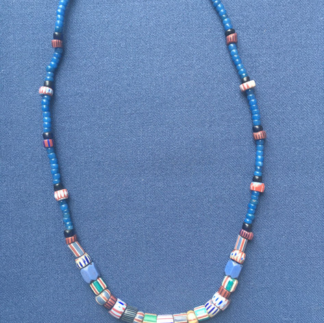 Indigo Stripe Necklace