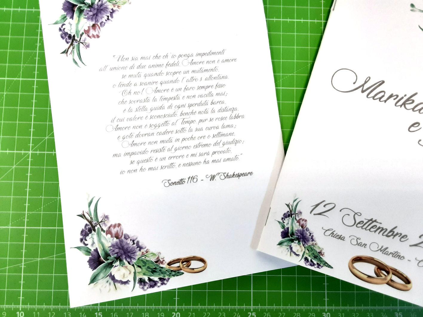 Particolare del libretto di matrimonio