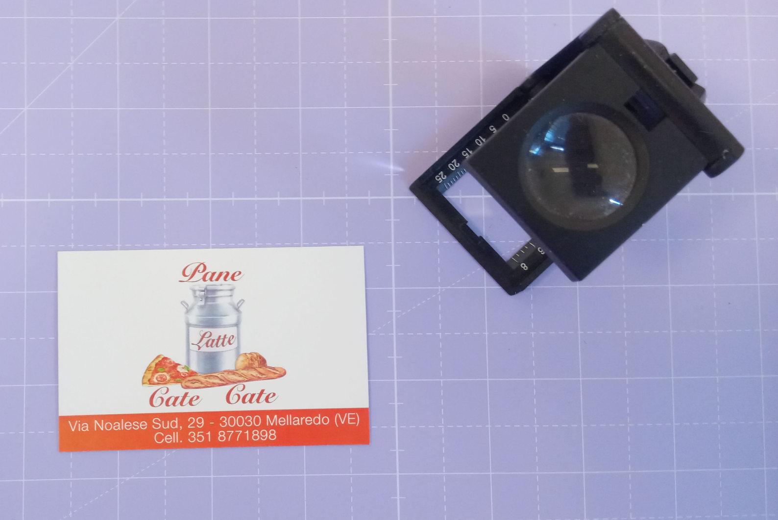 Grafica, stampa e realizzazione Biglietto da visita Pane Latte Cate Cate a 4/0 colori su carta patinata opaca