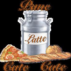 Studio e realizzazione logo Pane Latte Cate Cate da bozzetto cartaceo