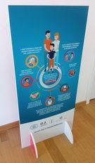 """Pannello Display con grafica standard """"avvertenze Ministero della Salute"""" realizzato su Sandwich da 2 cm"""