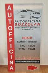 Pannello D-BOND spazzolato argentoAutofficina Bozzolan in formato 100x200cm