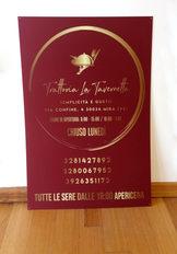 Pannello Forex 5mm Trattoria La Tavernetta in formato 70x100