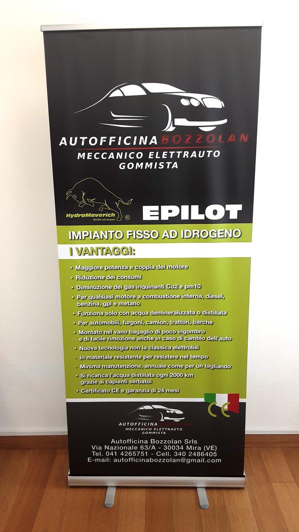 Roll-up Trattoria Autofficina Bozzolan formato 85x200 cm