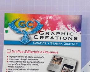 particolare volantino Graphic Creations