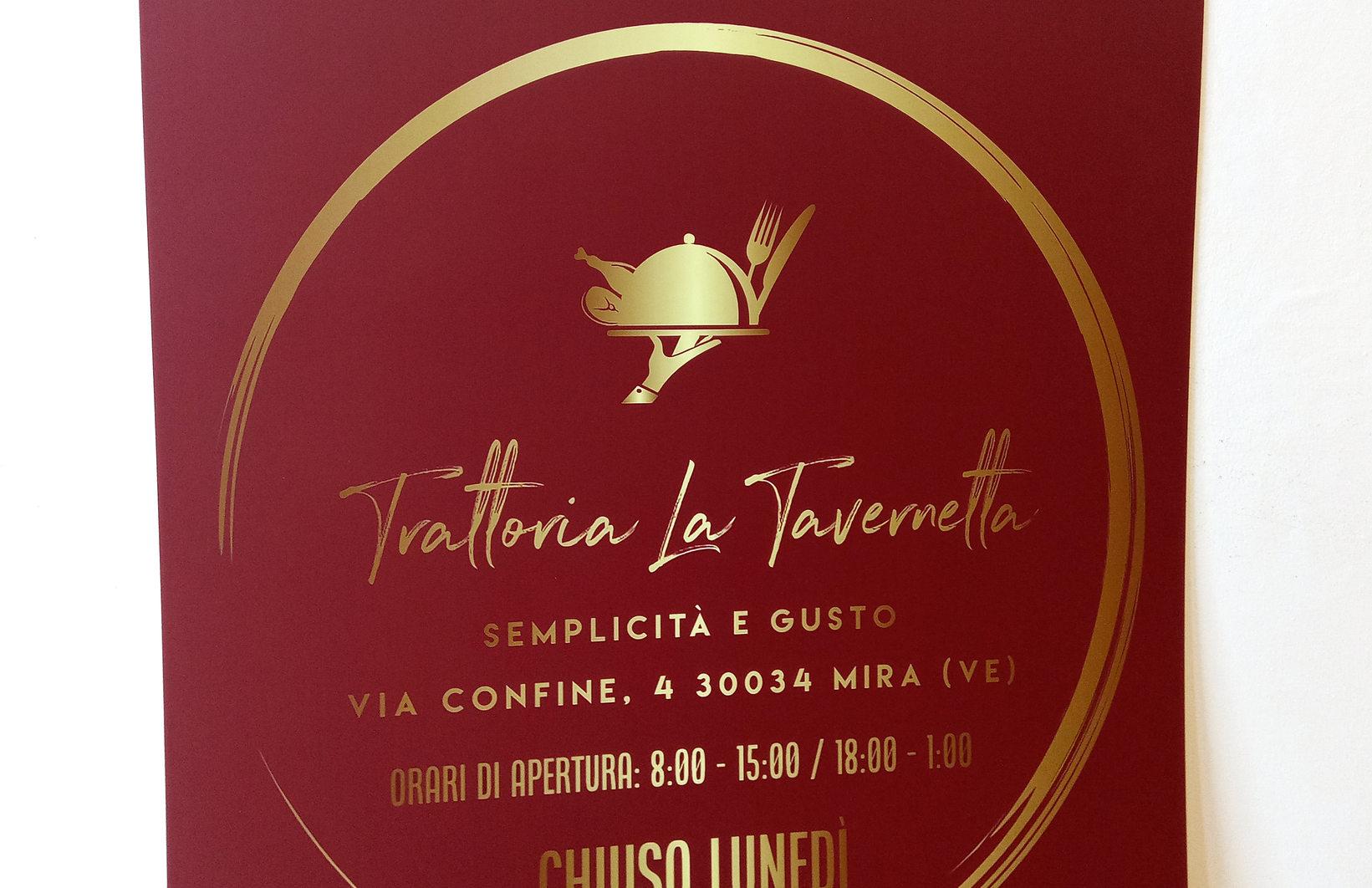 Particolare del Pannello Forex Trattoria La Tavernetta