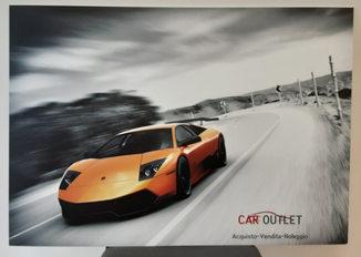 Grafica e realizzazione Pannello in forex 5mm Car Outlet formato 100x70 cm