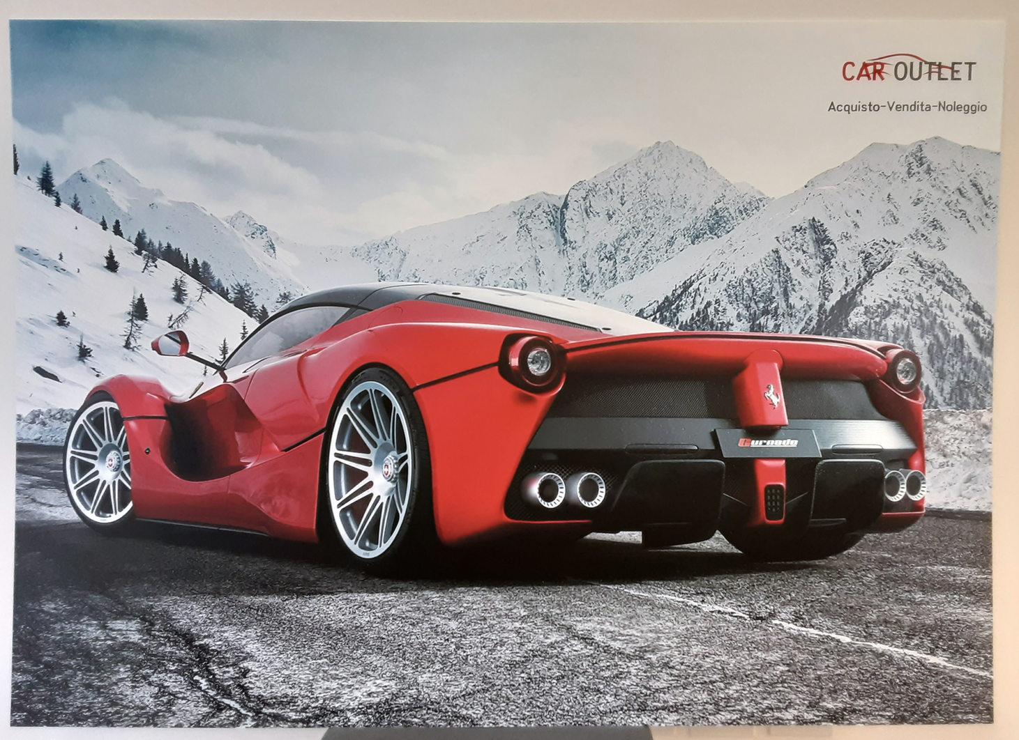 Grafica e realizzazione Pannello in forex 5mm Car Outlet formato 140x100 cm