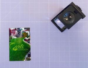 Grafica, stampa e realizzazione Biglietto da visita Carli Garden a 4/4 colori su carta patinata opaca