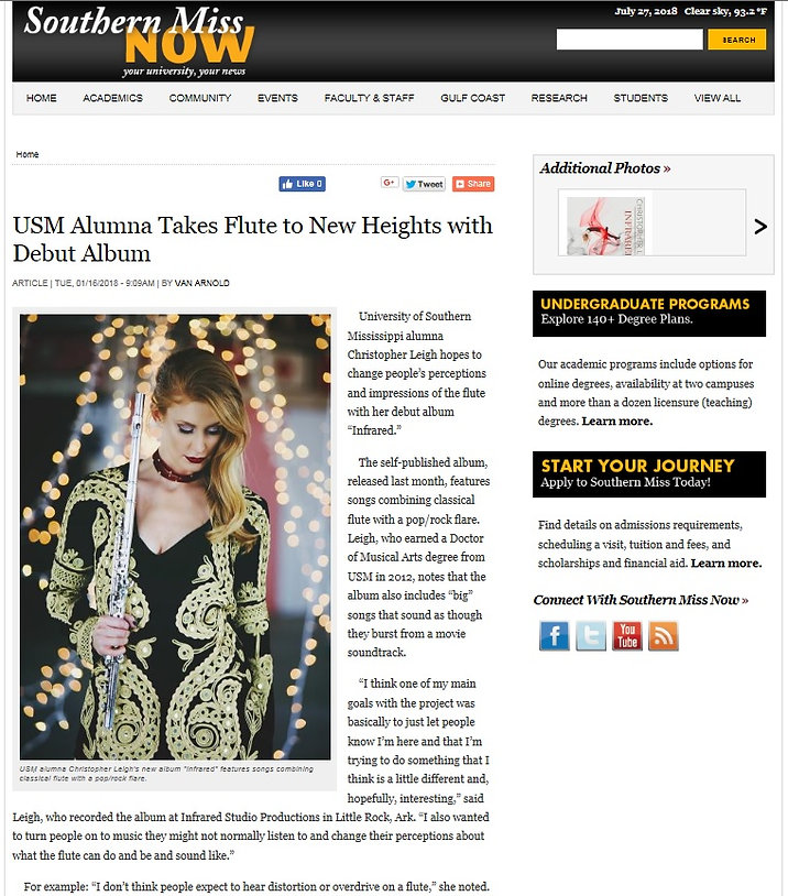 USM Alumna Takes Flute to New Heights.jp