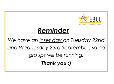 Inset Days - Reminder