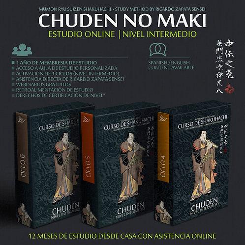 Curso de Shakuhachi CHUDEN NO MAKI 3 Ciclos
