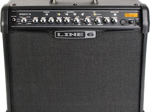 Amplificador Guitarra Line 6 Spider 75 Watts y pedal control (usado)
