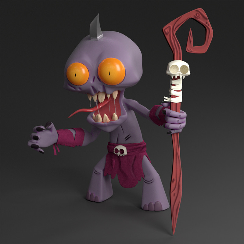 Cannibal Demon 3D video game character design