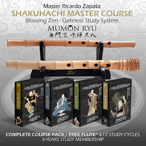 COMPLETE MASTER COURSE AND FREE FLUTE - 3 YEARS STUDY MEMBERSHIP