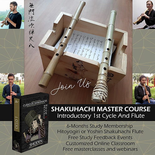FLAUTA Y CICLO 1 - SHAKUHACHI AND 1ST STUDY CYCLE - 6-MONTHS MEMBERSHIP