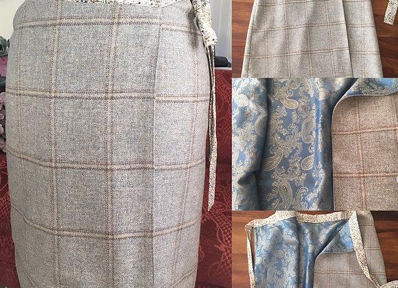 The Tania - Tweed Wrap Skirt