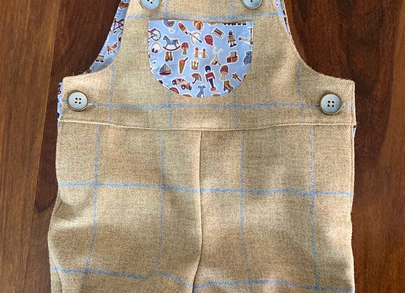 The Issac - Kids Tweed Dungarees