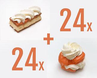 24x Oranje Tompoezen+ 24x Oranje Moorkoppen