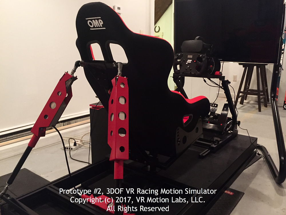3DOF VR Racing Motion Simulator by VR Motion Labs