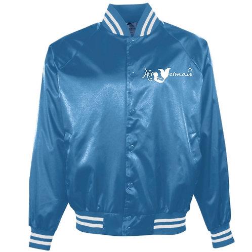 Sea Satin Varsity Jacket