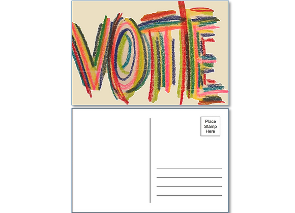 "40 ""VOTE"" postcards with Stamps - Shipping included"
