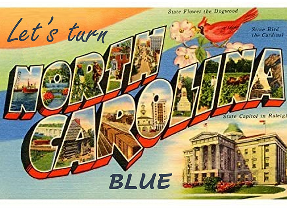 "40 postcards (No stamps) Shipping Included. Vintage ""Let's turn NC blue"""