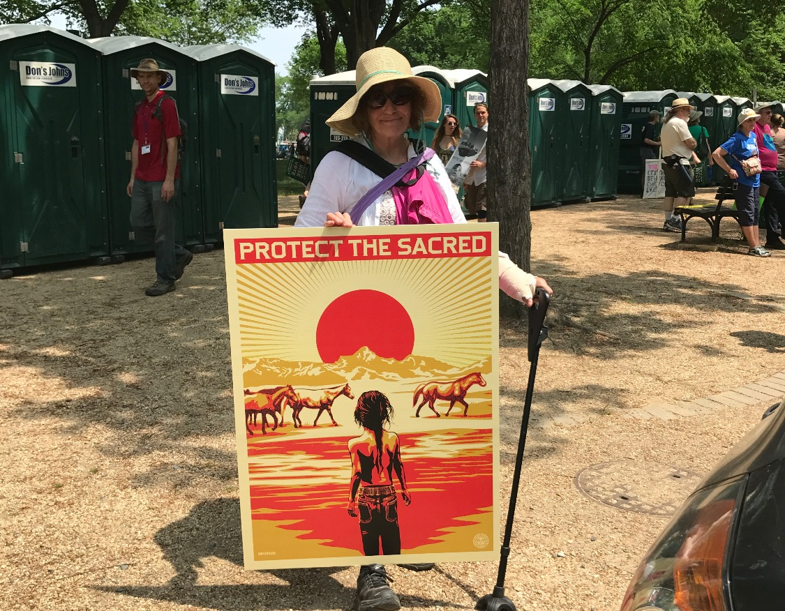 VA Dem Forward member with her sign