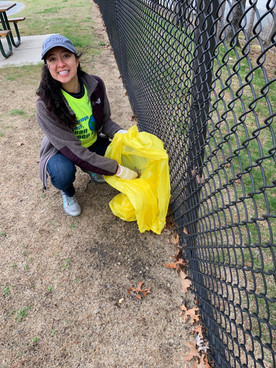 Samantha volunteering at the Marlborough Clean Sweep in 2019