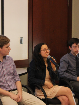 Samantha speaking on panel for the New England High School Democrats Conference