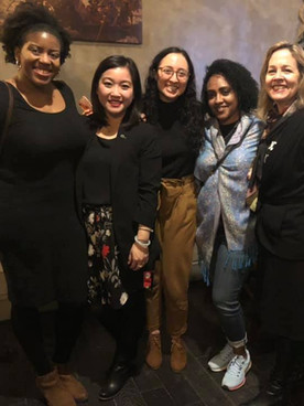 Samantha and her Emerge sisters with the Emerge founder