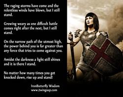 IBW Warrior I still stand