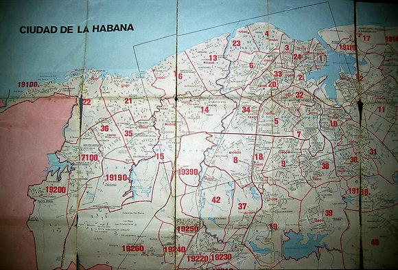 Map, La Habana, Cuba