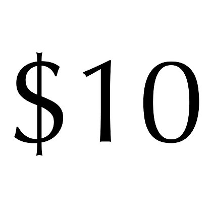 Donations in multiples of $10